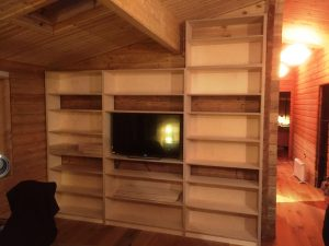 Under stairs book shelving (3