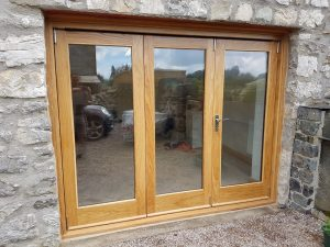 Wood patio doors